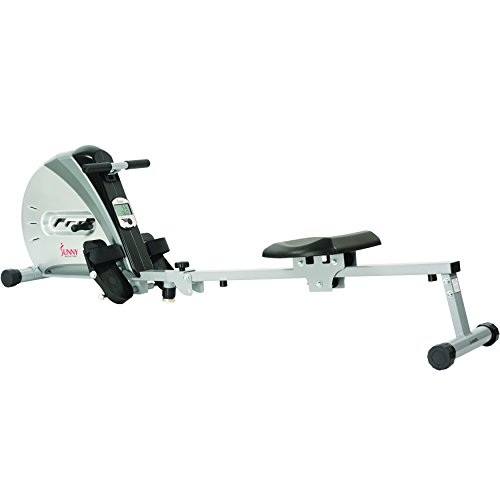 Find Discount Sunny Health & Fitness SF-RW5606 Elastic Cord Rowing Machine Rower with LCD Monitor