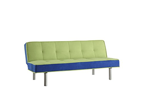 ACME Hailey Adjustable Sofa, Green and Blue Flannel