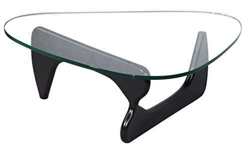 MLF Isamu Noguchi Table, Tempered Glass/Square Honed Edge by MLF