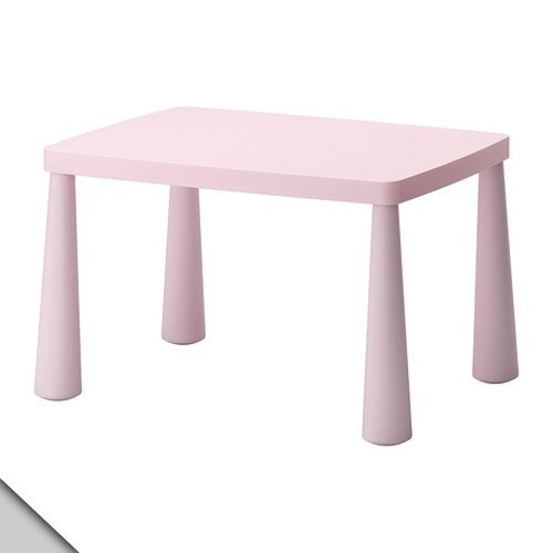 IKEA - MAMMUT Children's table, light pink (Furniture Ikea Sell)