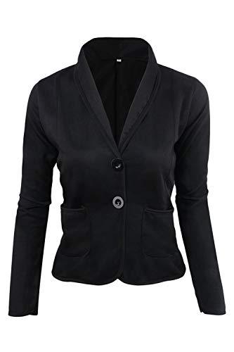 Dazosue Le Donne Balzer Pulsante Slim Fit Ufficio Tasche Giacca Cappotto black M