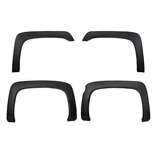 2013 Fender Trim - Premium Fender Flares for 2007-2013 Chevy Silverado 1500 5.8' Short Bed (NOT for Sierra) | Excl. 2007 Classic Models | Find-Textured Matte Black Paintable Factory Style 4pc