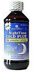 Natrabio Nighttime Cold Plus, Honey Lemon, 8 Ounce