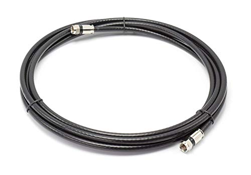 THE CIMPLE CO - 30' Feet, Black RG6 Coaxial Cable (Coax Cable) | Made in The USA | with Connectors, F81 / RF, Digital Coax | AV, CableTV, Antenna, and Satellite, CL2 Rated, 30 Foot