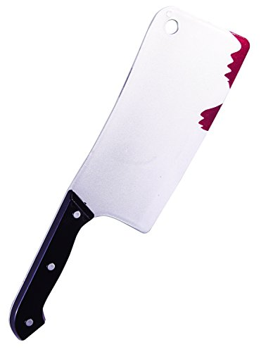 Adult Zombie Cleaver With Fresh Blood Drips Halloween Costume Accessory Prop -