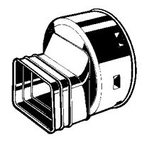 Advanced Drainage Systems - Advanced Drainage Systems 0664AA Downspout Adaptor, 6