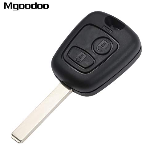 - Transport-Accessories - 2 Buttons Remote Car Key Keyless Entry Fob With Chip For Peugeot 206 307 Replacement Car Alarm Uncut Blade Replacement Key Shell