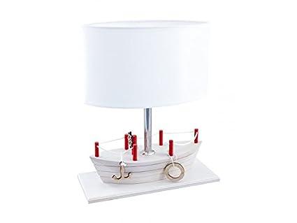 Abat jour bimbo lampada da tavolo como per cameretta bambini barca