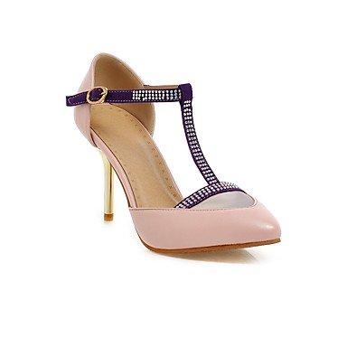 A stiletto Beige Casual Altro Rosa lavoro Tempo purple e Poliuretano Ufficio PU donna libero Sandali Viola Da vFwBAqzF