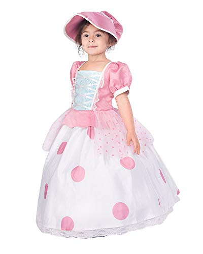 Coskidz Children's Little Bo Peep Cosplay Dress Halloween Costume (One Size)]()