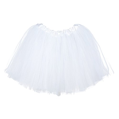 My Lello Little Girls Tutu 3-Layer Ballerina White (10 mo - 3T) -