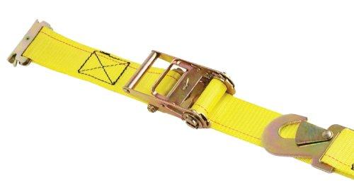 Progrip 3104 Medium Duty E-Track Ratchet Tie Down with Webbing Strap: Snap Hook Ending, 7' x 2''