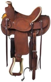 "ME Enterprises Wade Tree A Fork Premium Western Leather Roping Ranch Work Horse Saddle Size 14"" to 18"" Inches Seat"