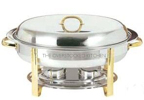 GOLD ACCENT 6 QT OVAL CHAFER CHAFING DISH (Oval Chafer)