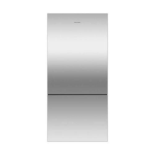 (Fisher Paykel RF170BLPX6 Bottom Mount Counter Depth Refrigerator with 17.6 Cu. Ft. Total Capacity Left Hinged Door Door Storage and Pocket Handle in Stainless)