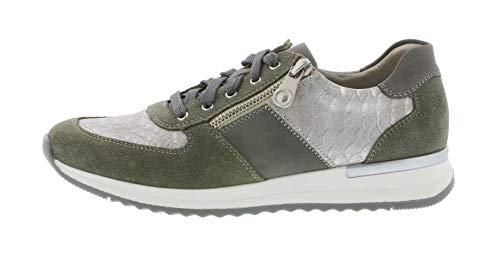 À Vert perméable L'air Lacets chaussures Chaussures Sport 54 cement Rieker N7022 Femme shark De qWYUA