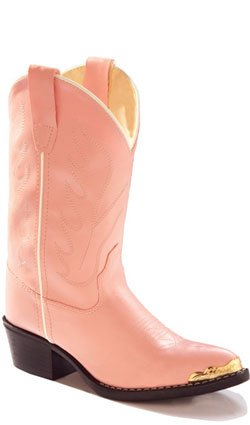 Old West Girls' Cowgirl Boot Pink 13.5 D(M)