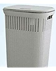 50L Multi-Purpose Laundry Basket with Cover (Gray)