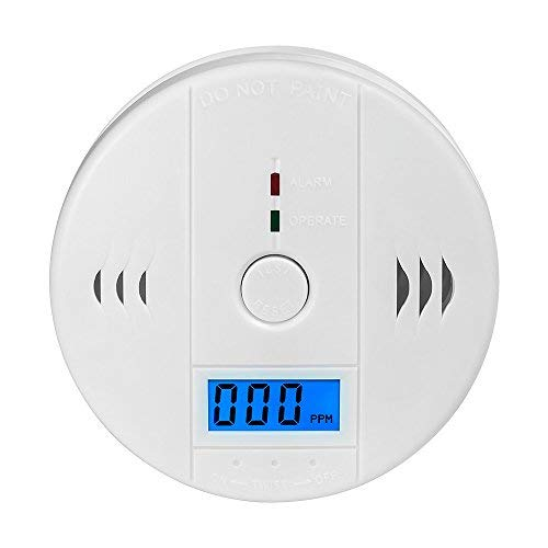 Detector Co (CO Detector Carbon,Wewalab Monoxide Alarm LCD Portable Security Gas CO Monitor,Battery Powered (Battery not Included))