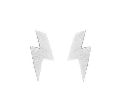 Altitude Boutique Lightning Earrings Lightning Bolt Earrings Gold Silver Rose Gold -