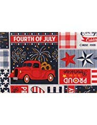 - Mainstream Proud To Be An American Patriotic Patchwork Vinyl Flannel Back Tablecloth (52