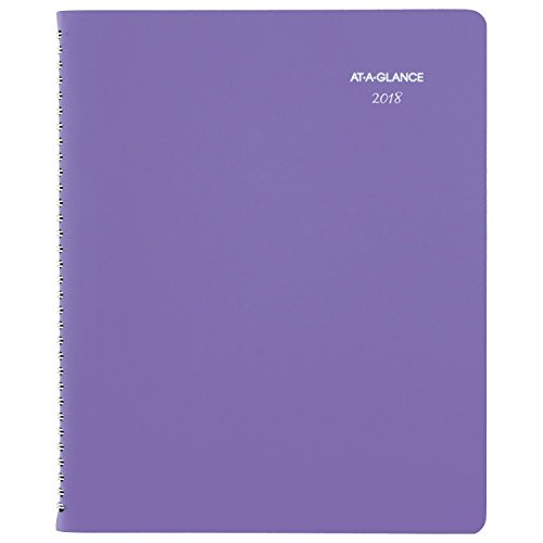 "AT-A-GLANCE Weekly / Monthly Appointment Book / Planner, January 2018 - January 2019, 8-1/2"" x 11"", Beautiful Day, Lavender (938P-905)"