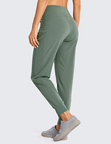 CRZ YOGA Women's Double Layer Jogger Sweatpants with Zipper Pockets Warm Stretchy Comfy Lounge Pants Elastic Waist 3