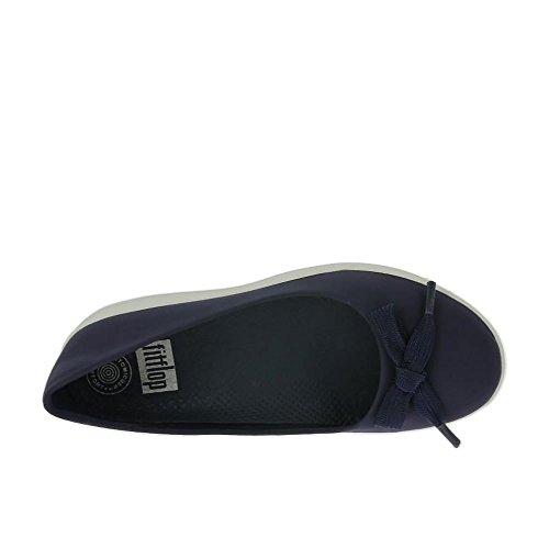FitFlop Encaje Arco Adoraballerina Zapatos Midnight Navy Marina De Guerra De Medianoche
