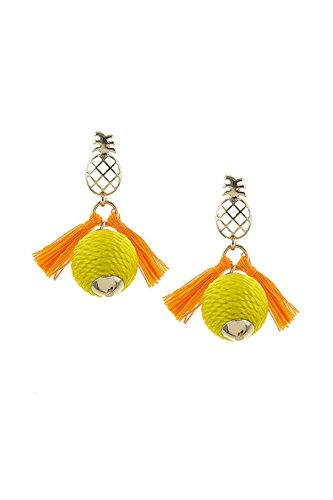 TRENDY FASHION JEWELRY THREAD WRAPPED BALL PINEAPPLE EARRINGS BY FASHION DESTINATION | (Chandelier Ham)
