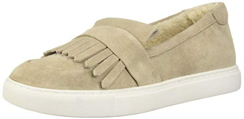 Kenneth Cole New York Women's Kobe Kilty Toe Slip on Sneaker, Grey/Natural, 5.5 M -