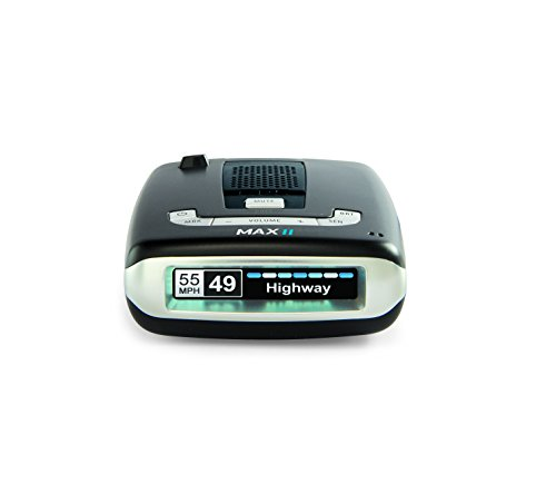 Escort 0100016-3 Max II - Radar Laser Detector, Auto learn Technology, Live App, Bluetooth, GPS, Speed Alerts, Headphone Jack, Blue, Blue Display