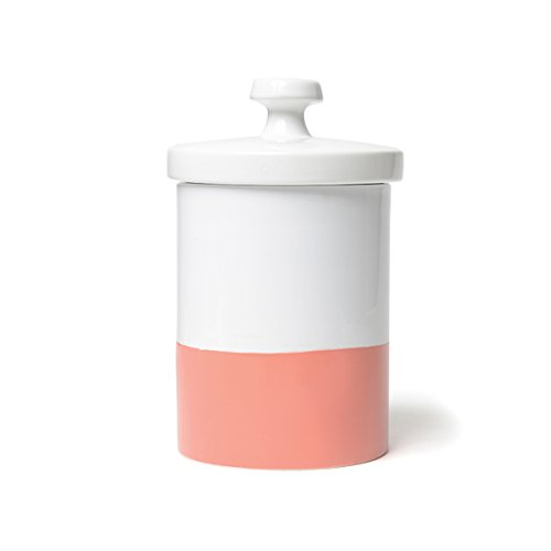 Waggo Dipper Ceramic Treat Jar Coral, One Size