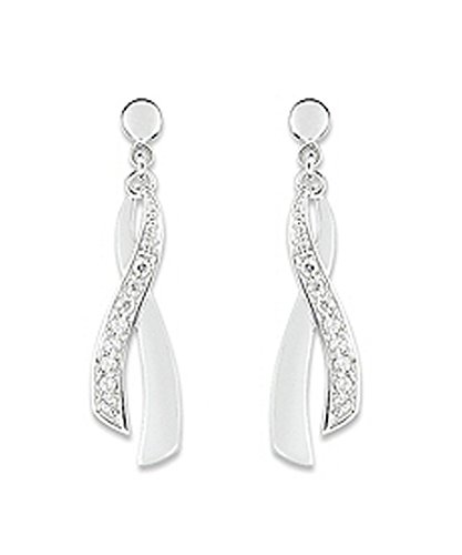 OR by Stauffer - Boucles d'oreilles or gris 375/1000, oxydes de zirconium by Stauffer