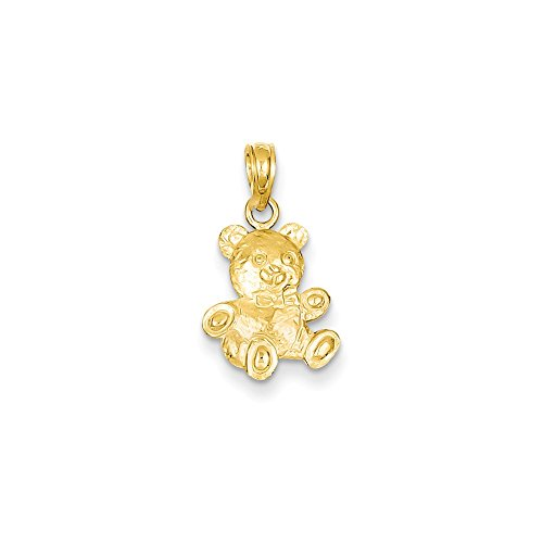 Perfect Jewelry Gift 14K 2-D Teddy Bear Pendant
