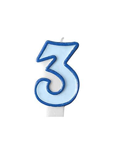 Muñeco de peluche - Vela Número 3 azules jóvenes: Amazon.es ...