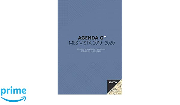 Additio P181-P - Agenda G Plus 2019-2020 mes vista + anotaciones para el profesorado (catalán)