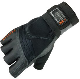 ProFlex 910 Impact Protection Work Glove with Wrist Support, Black, X-Large by Ergodyne (Image #1)