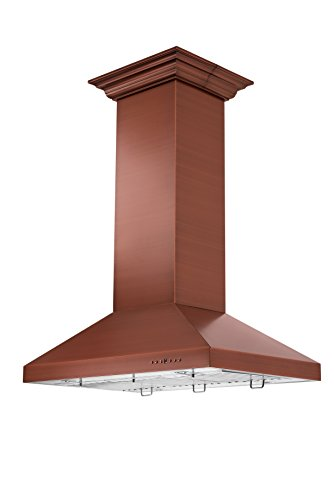 - ZLINE 36 in. 760 CFM Designer Series Copper Island Mount Range Hood (8KL3iC-36)