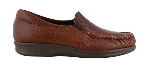 SASツインMulchブラウンスリップオン快適靴with SAS Tripadテクノロジー
