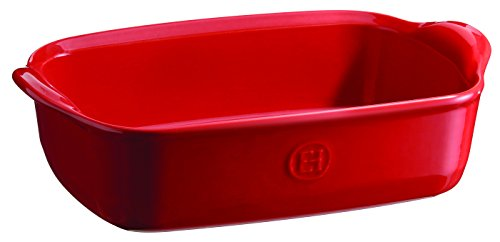 Emile Henry 349649 France Ovenware Ultime Rectangular Baking Dish, 8.7 x 5, Burgundy