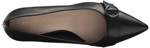 Nine West Women's Karacurl Leather Pump Black 5VZbp