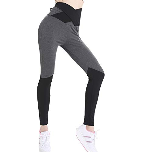 High-Waisted Yoga Pants Women Sexy Skinny Leggings Patchwork Bow Push Up Athletic Pants Chaofanjiancai Black