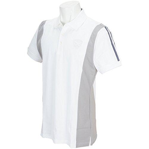 セント?アンドリュース St ANDREWS 半袖シャツ?ポロシャツ 半回縞半袖ポロシャツ ホワイト 030 3L