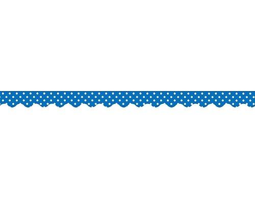 Teacher Created Resources Blue Mini Polka Dots Border Trim, Blue (4666)