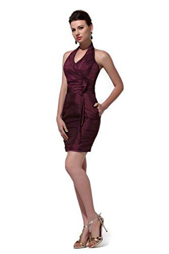 Damen A Burgunderrot Kleid Queen Rot Linie Hot f5EBw