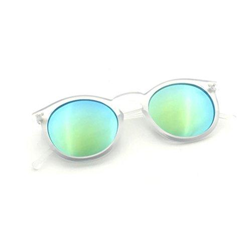 Gafas circular marca clasico espejo sol Mujeres Moda Winwintom de de Color tono Hombres la H Sq4zHI