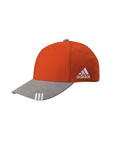 Adidas T-shirt Cap (adidas-Collegiate Heather Cap-A625-Collegiate Orange-Medium Grey Heather)