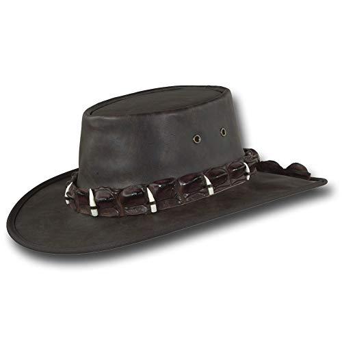 Barmah Hats Vintage Kangaroo Leather Hat - Item 1018 (XLarge, Vintage Crocodile) ()