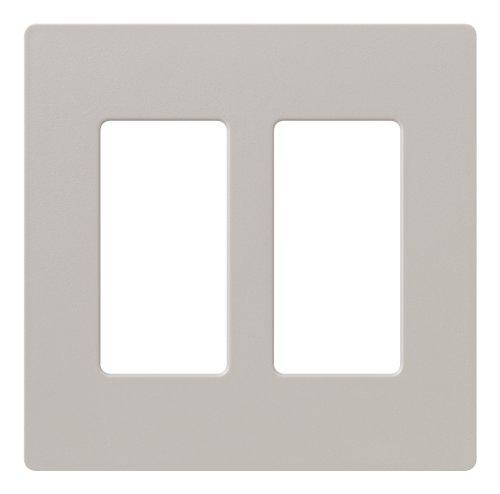 Lutron Claro 2 Gang Decorator Wallplate, SC-2-TP, (Taupe Lighting)