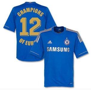 UKSoccershop 2012 - 13 Chelsea Home + Camiseta campeones de Europa 12: Amazon.es: Deportes y aire libre